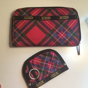 Lesportsac wallet and key coin pouch.